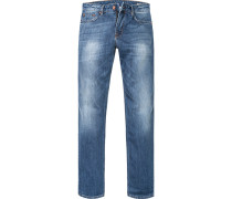 Herren Jeans Modern Fit Denim-Stretch blau