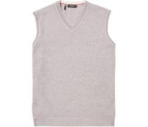 Pullover Pullunder Baumwolle meliert