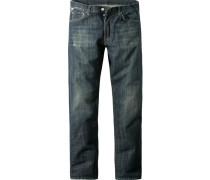 Herren Jeans Straight Baumwolle saginaw wash blau