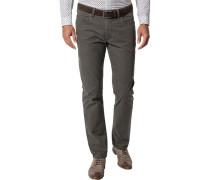 Jeans, Regular Fit, Baumwoll-Stretch, gemustert