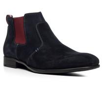 Herren Schuhe DEVEN Kalbveloursleder blau