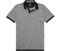 Polo-Shirt Polo Baumwoll-Pique nachtblau meliert
