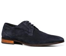Schuhe Derby Veloursleder navy