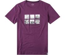T-Shirt Body Fit Pima Baumwolle pflaume
