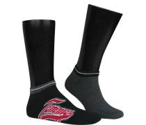 Socken Sneakersocken Baumwolle schwarz-rauchblau