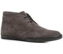 Herren Schuhe Desert Boots Veloursleder grau
