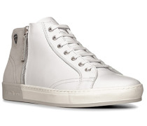 Schuhe Sneaker Kalb-Veloursleder -grau
