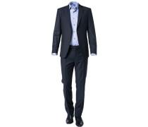 Anzug, Modern Fit, Schurwolle, nachtblau meliert