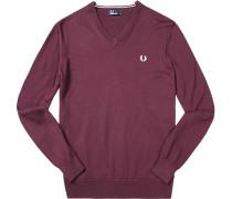 Pullover Baumwolle bordeaux