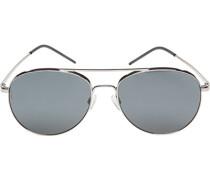 Brillen Sonnenbrille Metall silber