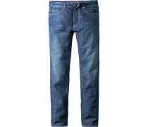 Jeans Slim Fit Baumwoll-Stretch jeansblau