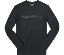 T-Shirt Longsleeve Baumwolle anthrazit