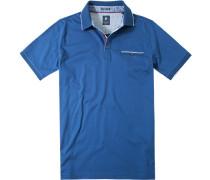 Herren Polo-Shirt Polo Baumwoll-Jersey blau