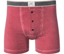 Unterwäsche Trunk Baumwoll-Stretch pastellrot meliert