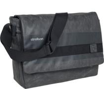 Tasche Messenger Bag Kunstleder meliert