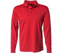 Herren Polo-Shirt Polo Baumwoll-Jesey rot