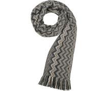 Schal Wolle braun- gemustert