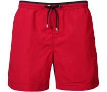 Herren Bademode Bade-Shorts rot Seitentaschen