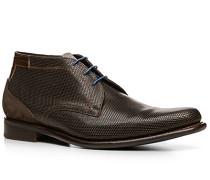 Schuhe Stiefeletten Kalbleder dunkelbraun gemustert