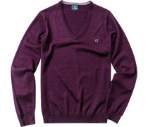 Pullover, Schurwolle, pflaume