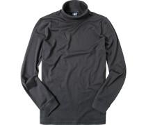 Herren Rollkragen-Shirt Baumwolle nachtblau
