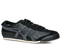 Schuhe Sneaker Leder schwarz-dunkelgrau ,schwarz,beige