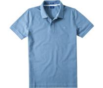 Herren Polo-Shirt Polo Modern Fit Baumwoll-Piqué taubenblau