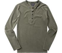 T-Shirt Longsleeve Baumwolle khaki