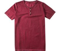 Herren T-Shirt Baumwolle chianti meliert rot