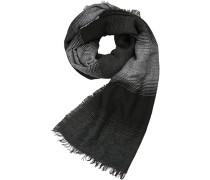 Schal Wolle-Alpaka schwarz- gestreift