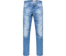 Blue-Jeans, Baumwoll-Stretch, jeansblau