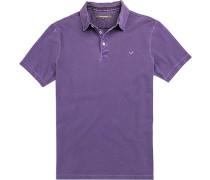 Polo-Shirt Polo Baumwoll-Pique violett