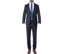 Herren Anzug Extra Slim Fit Schurwolle Super120 GUABELLO dunkelblau