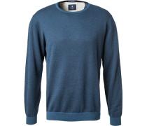 Pullover, Wolle-Baumwolle, meliert