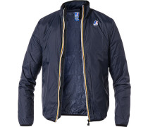 Regenjacke, Regular Fit, Microfaser, navy