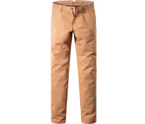 Hose Chino Modern Fit Baumwolle camel