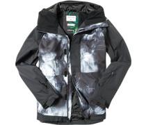 Snowboardjacke, Regular Fit, Microfaser DRYFLIGHT®, -weiß gemustert
