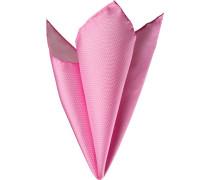 Accessoires Einstecktuch Seide rosa gepunktet