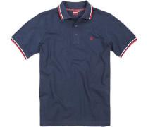 Herren Polo-Shirt Polo Baumwoll-Piqué marineblau
