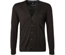 Cardigan Baumwolle-Kaschmir schwarz