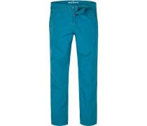 Hose Chino Regular Straight Fit Baumwolle kobaltblau