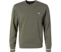 Pullover Sweater Baumwolle khaki