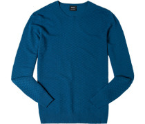 Pullover, Wolle, petrol