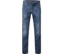 Jeans Skinny Fit Baumwoll-Stretch jeansblau