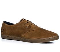 Schuhe Sneaker Veloursleder cognac