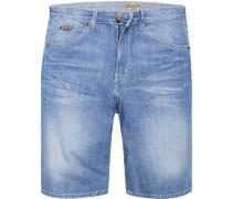 Jeansshorts Regular Fit Baumwoll-Stretch hellblau