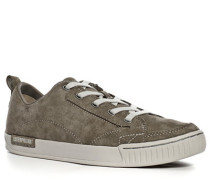 Schuhe Sneaker Veloursleder graubraun