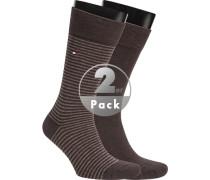 Socken Socken Baumwolle schokobraun meliert