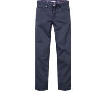 Herren Jeans Comfort Fit Baumwoll-Stretch tintenblau