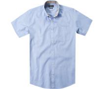 Hemd Tailored Fit Baumwolle hellblau meliert